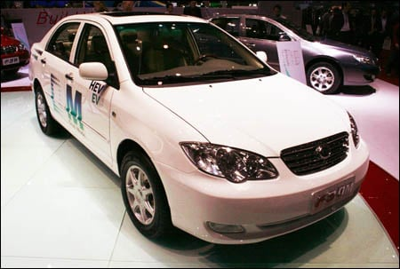 BYD F3DM plug-in hybrid automobile