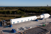 The Falcon 9 at Cape Canaveral