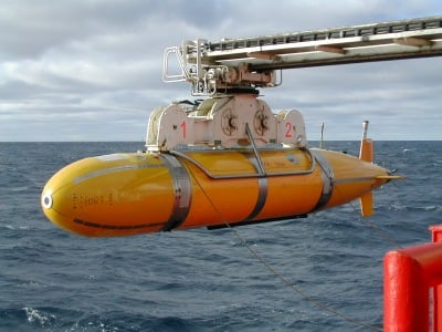 The 'Autosub' battery-powered undersea research robot - Pic: BNOC Southampton