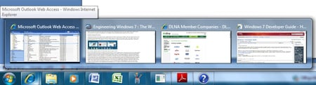 Wndows 7 taskbar