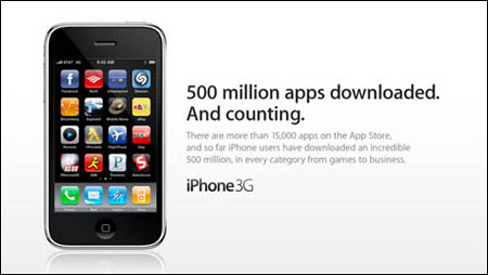 Apple announces 500-millionth iPhone app downloaded