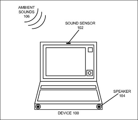 Apple sound-sensor patent application illustration