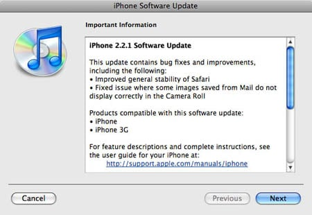 iPhone 2.2.1