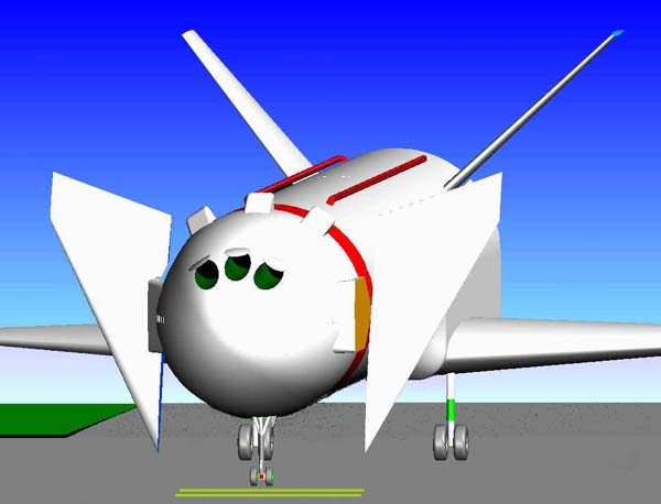DLR concept of a re-usable booster/droptank aircraft