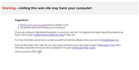 Google Malware Snafu