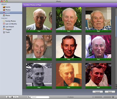 iPhoto '09 Faces - good choice