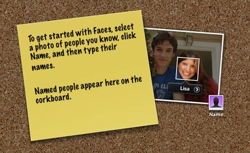 iPhoto '09 Faces startup screen