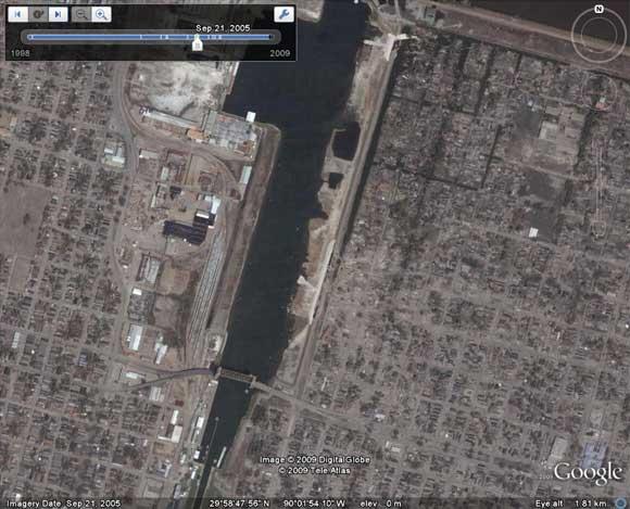 The same view after hurricane Katrina
