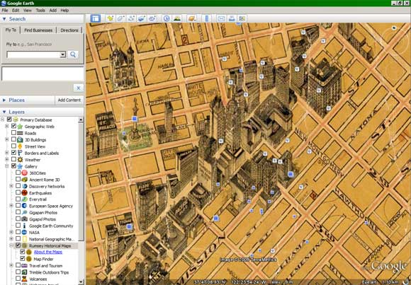 San Francisco 1915 map overlay