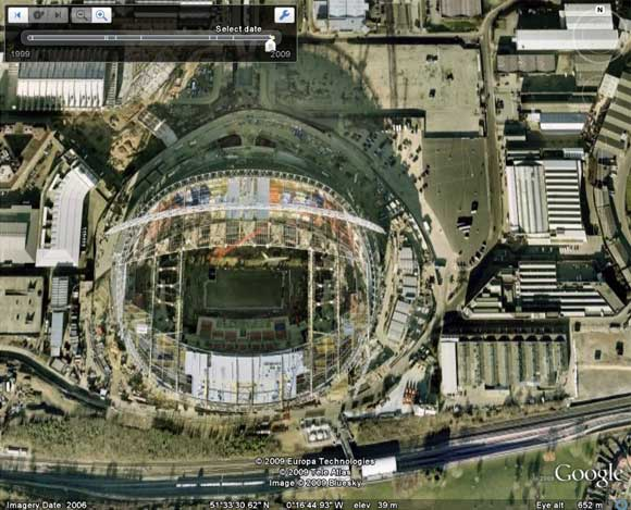The latest view of the new Wembley Stadium