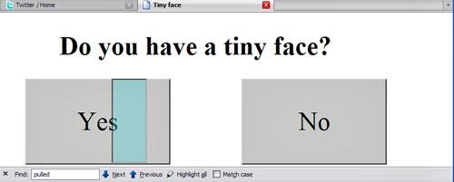 Screenshot of clickjacking page