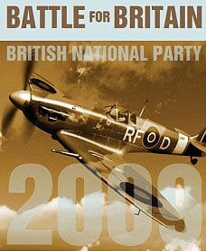 The BNP poster showing Polish Spitfire