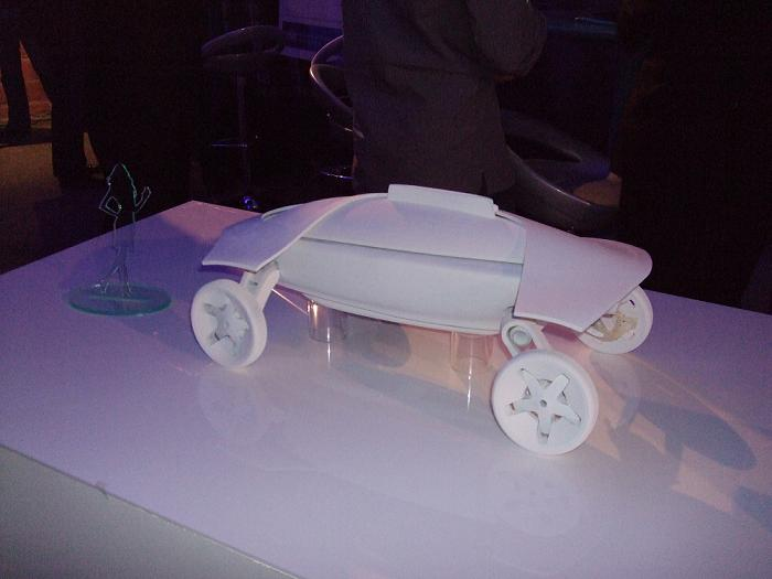 The Autocare ejector ambulance concept on show at Pioneers 09
