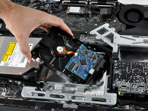 Inside the 20-inch iMac: removing the hard drive