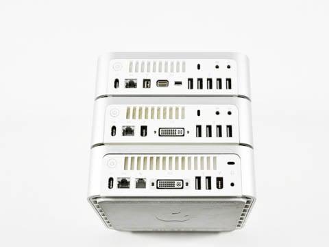 Mac mini: the three basic models