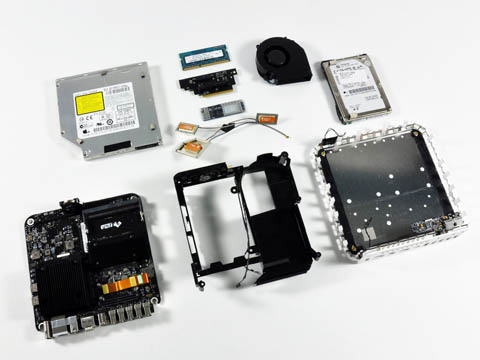 Mac mini teardown: all the pieces