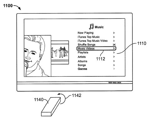 Apple remote-wand patent - basic use