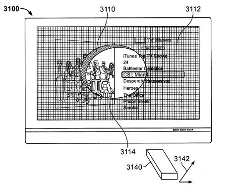 Apple remote-wand patent - flashlight effect