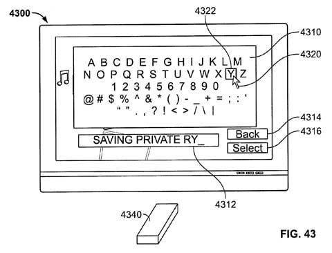 Apple remote-wand patent - keyboard
