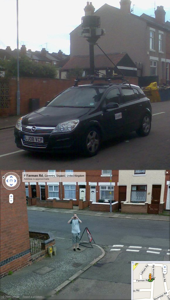 Our man caught on Street View in Coventry
