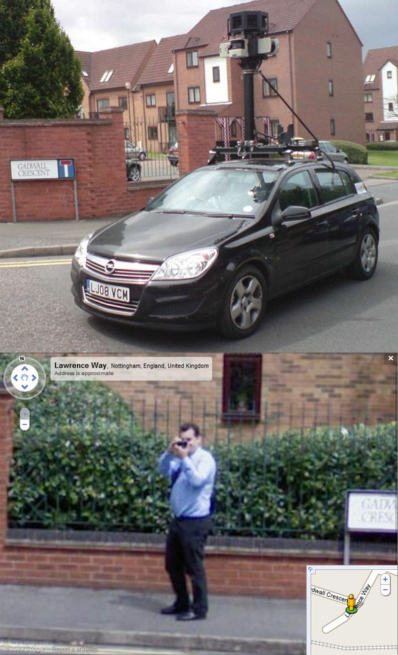 Our man caught on Street View in Nottingham