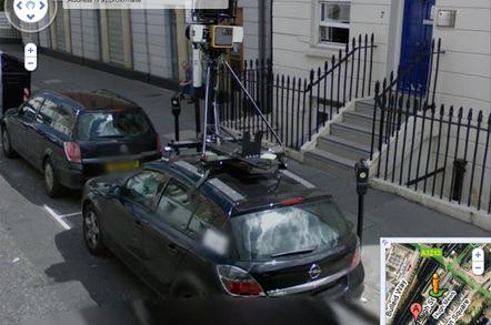 Street View spymobile captures Street View spymobile on Street View