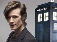 Matt Smith and his unfeasibly large fringe