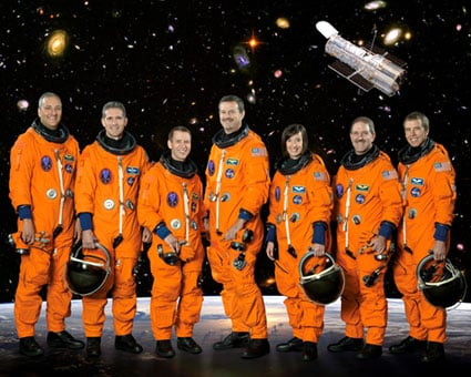The STS-125 crew. Pic: NASA