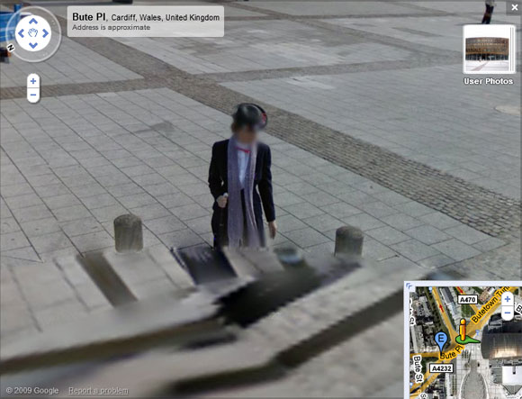 Cardiff Victorian ghost on Street View