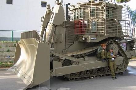 The IDF armoured version of the Caterpillar D9 bulldozer