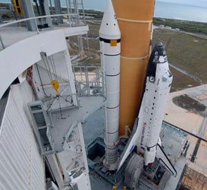 Atlantis at the launch pad. Pic: NASA