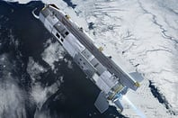 Artist's impression of GOCE orbiting over ice. Pic: ESA