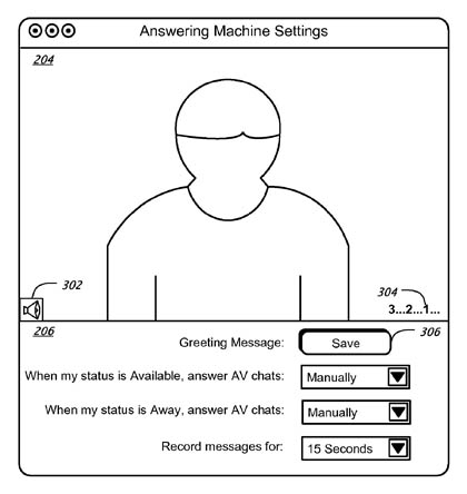 Apple iChat video answering-machine patent