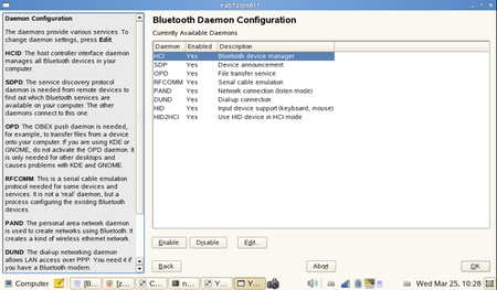 Bluetooth Daemon Config