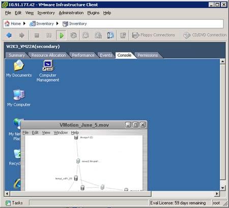 vSphere's VMware Fault Tolerance UI segment