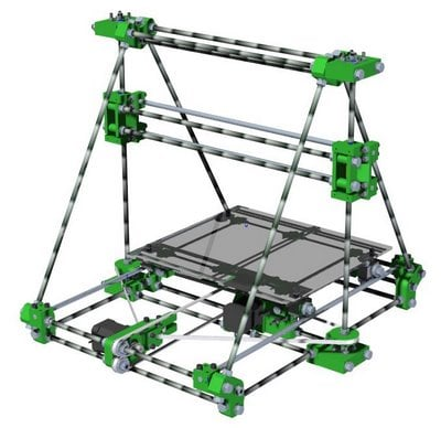 Rendered prototype RepRap 2