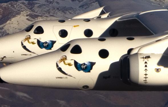 WhiteKnightTwo VMS <em>Eve</em> first flight. Credit: Virgin Galactic.