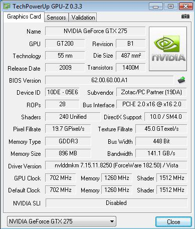 Zotac GeForce GTX 275 AMP! Edition
