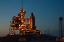 Atlantis on the launch pad. Pic: NASA