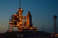 Atlantis on the launch pad. Pic: NASA