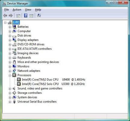 Acer Timeline 4810T - CPU history
