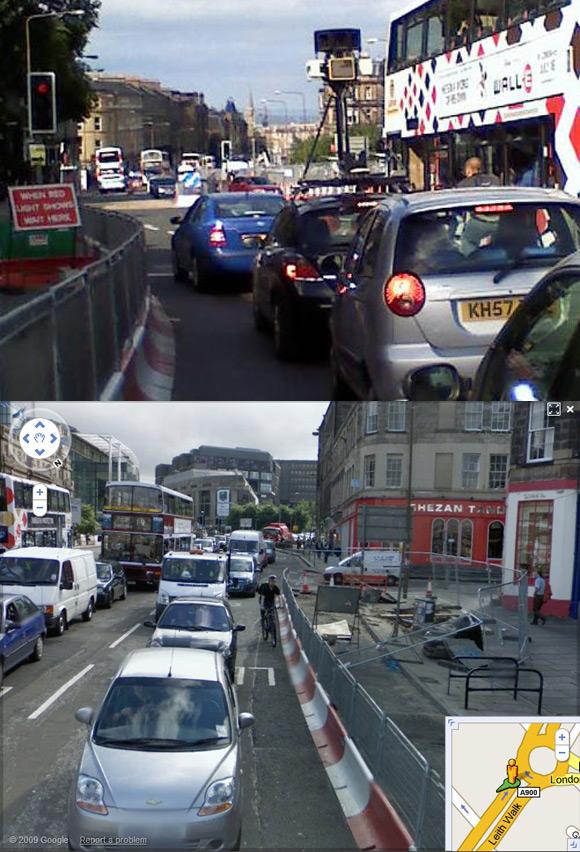 Gareth Hannaford caught on Street View in Edinburgh