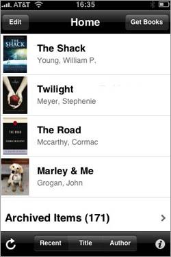 Kindle for iPhone screenshot