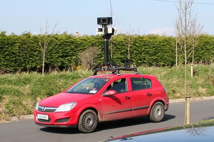 Street View vehicle in Tramore, County Waterford