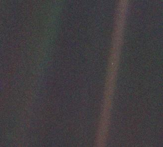 Earth as seen from Voyager 1 some four billion miles away. Credit: NASA JPL