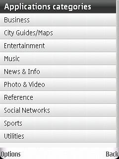 Ovi Categories