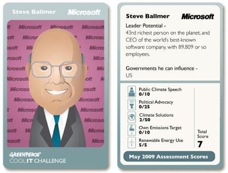 Greenpeace on Steve Ballmer