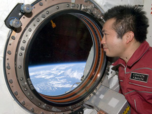 Japanese astronaut Koichi Wakata aboard the ISS. Pic: NASA