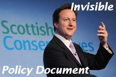 Cameron's invisible policy document