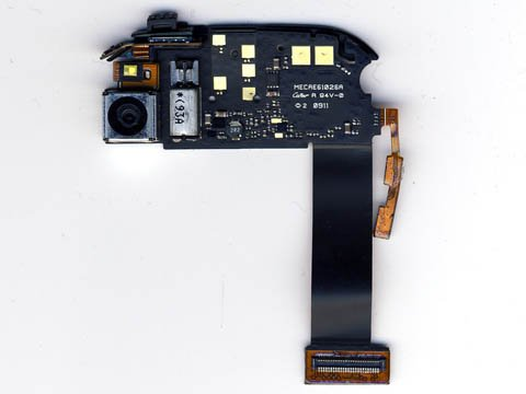 Palm Pre: camera, flash, and vibrator circuit board
